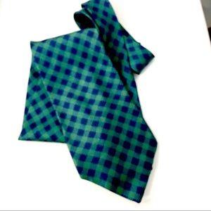 Fendi Classic Navy Green Check Tie